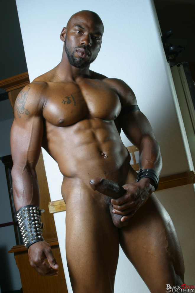 Ripped Black Hunk Spunked