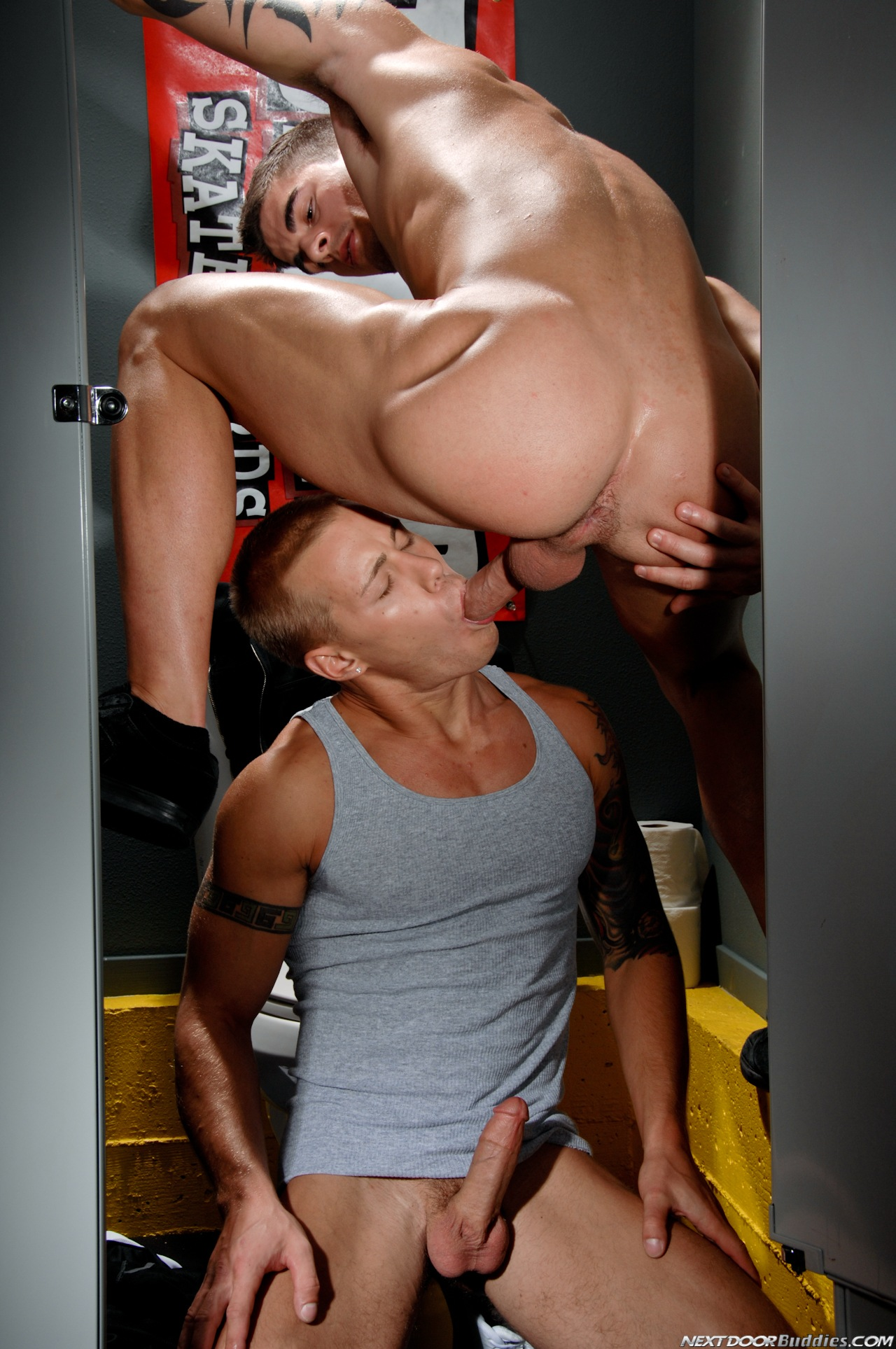 Tyler Torro and Brody Wilder gloryhole fuck at Suck A Boner