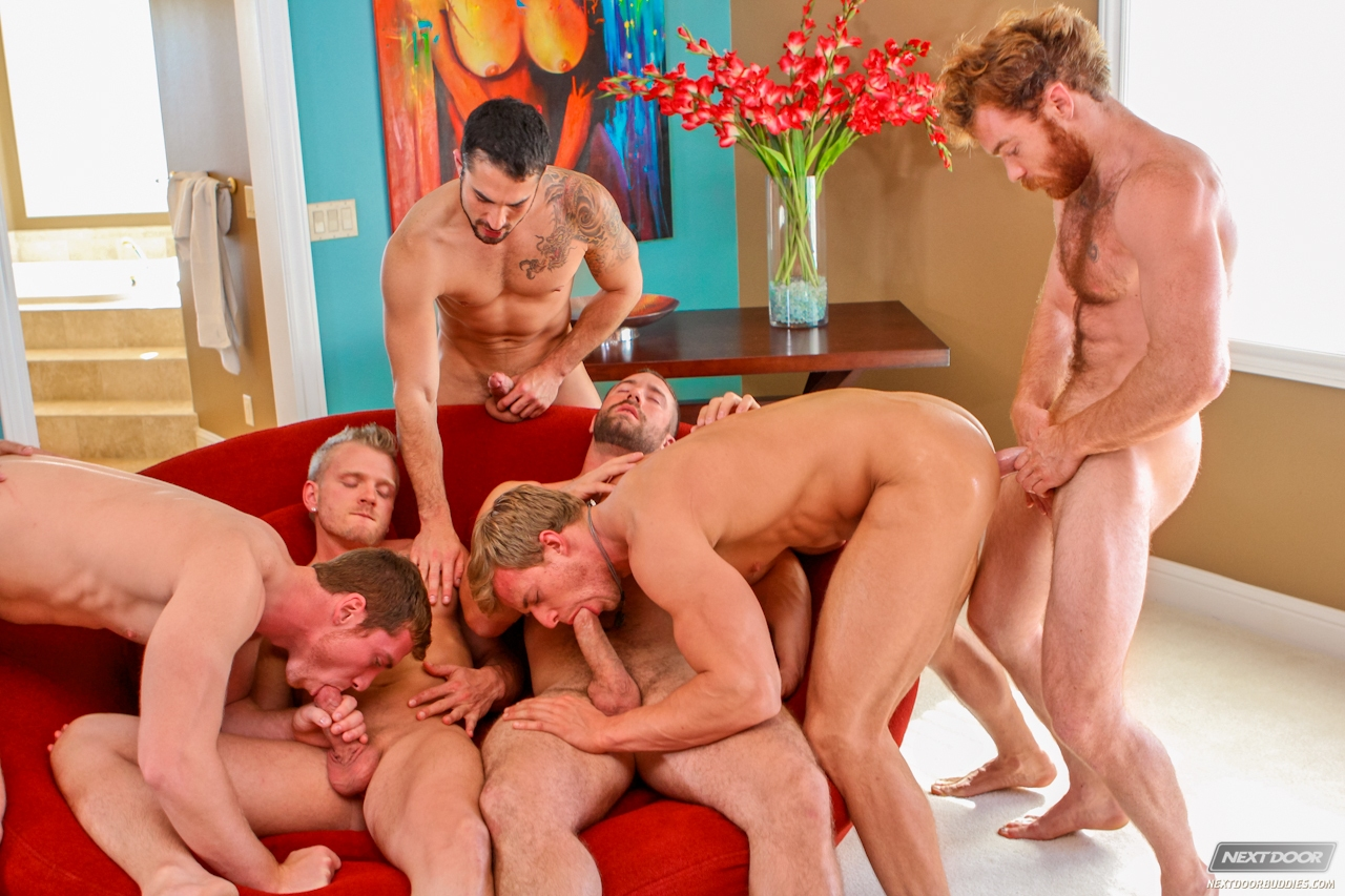 image Gay sex an orgy of boy spanking