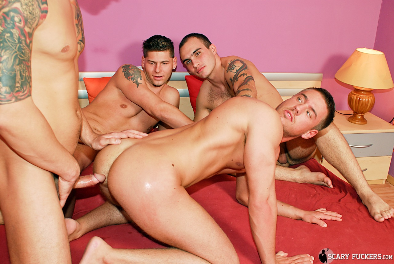 Bodybuilders orgy