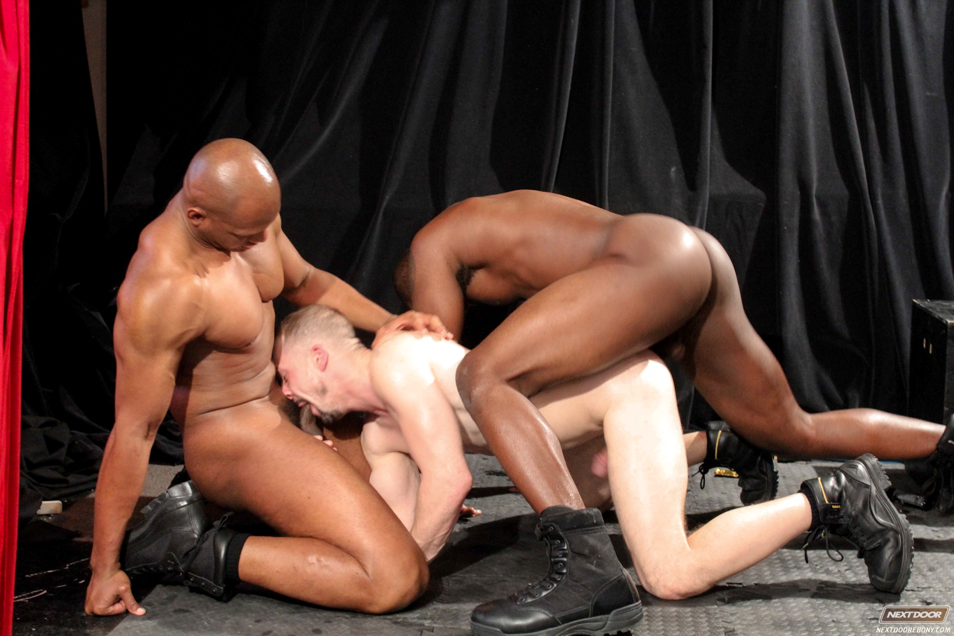 Interracial threeways gay tubes