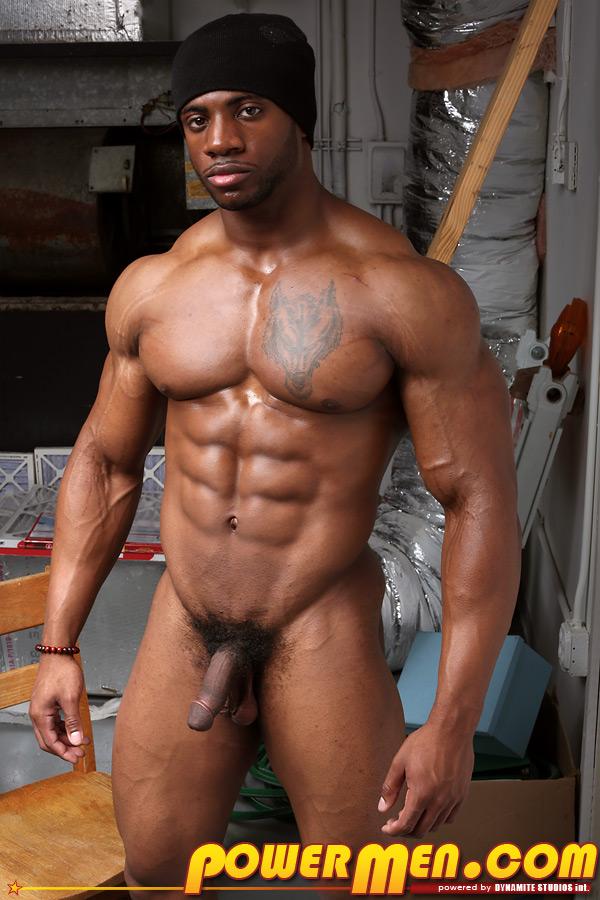 muscle man Black fucking